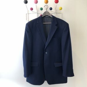 Suits & Blazers - 100% cashmere navy sport jacket
